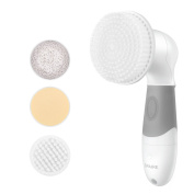 Spaire Face Brush 4 in 1 Facial and Body Cleansing Brushes IPX7 Waterproof Non-slip Handle with 4 Replaceable Heads for Micro dermabrasion, Exfoliator, Makeups, Skin care