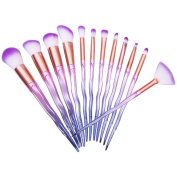 Makeup Brushes,ABCsell 12Pcs Pro Cosmetic Brushes Luxury Powder Foundation Eyeshadow Lip Brushes