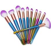 Makeup Brushes,ABCsell 10Pcs New Cosmetic Brushes Set Women Powder Foundation Eyeshadow Lip Brushes