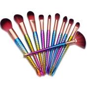 Makeup Brushes,ABCsell 10Pcs Luxury Cosmetic Brushes Set Women Powder Foundation Eyeshadow Lip Brushes
