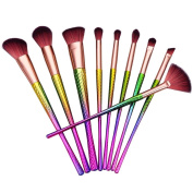 Cosmetic Brushes,ABCsell 9Pcs Cosmetic Brushes Set New Powder Foundation Eyeshadow Lip Brushes