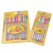Glitter Colour Gel Pens Art Unique Colours Gel Pens Set for Adult Colouring Books Art Markers,Pack of 18