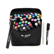 STA 48 Colours Dual Tips Art Graphic Drawing Painting Marker Pen Set Water Based Brush Render for Sketch Design Shade Illustrate Scribbling etc