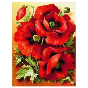TTnight Red Rose DIY 5D Diamond Embroidery Painting Cross Stitch Wall Stickers for Home Decor 30cm x 40cm