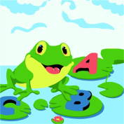 CaptainCrafts New Paint by Number Kits - Small Frog - Diy Painting by Numbers for Kids, As Children's Day Birthday gift