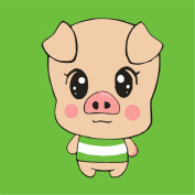 CaptainCrafts New Paint by Number Kits - Cute Little Pig With Frame - Diy Painting by Numbers for Kids, As Children's Day Birthday gift