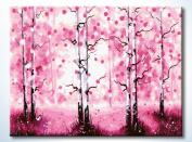 FramedPBN Paint By Number Kits RomanticSakura 34cm X17.7.6cm