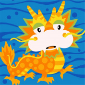 CaptainCrafts New Paint by Number Kits - Zodiac Dragon With Frame - Diy Painting by Numbers for Kids, As Children's Day Birthday gift