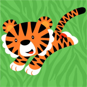 CaptainCrafts New Paint by Number Kits - Zodiac Tiger With Frame - Diy Painting by Numbers for Kids, As Children's Day Birthday gift