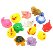 13 pieces BABY TOYS FOR THE BATHROOM MINI animal soft rubber Floating