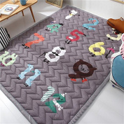 Ustide Baby Play Mat Cotton Floor Gym - Non-Toxic Non-Slip Reversible Washable,Numbers Game, Large