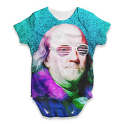Twisted Envy Benjamin Franklin Rapper Baby Unisex Funny ALL-OVER PRINT Bodysuit Baby Grow Baby Romper