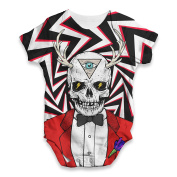 Twisted Envy Illuminati Skull Man Baby Unisex Funny ALL-OVER PRINT Bodysuit Baby Grow Baby Romper