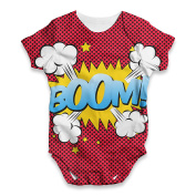 Twisted Envy Boom! Comic Book Baby Unisex Funny ALL-OVER PRINT Bodysuit Baby Grow Baby Romper