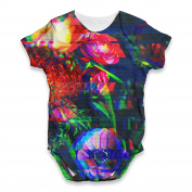 Twisted Envy Glitch Art Flowers Baby Unisex Funny ALL-OVER PRINT Bodysuit Baby Grow Baby Romper