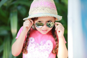 Idol Eyes Metal Aviator Kids Sunglasses with Gold Mirror Coating