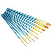Bluelans 10pcs Professional Acrylic Artist Paint Brush Set for Watercolour Oil Acrylic Painting