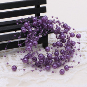 Wrisky 5M Faux Pearls String Beads Garland Wedding Bridal Bouquet Christmas Party Decor