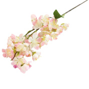 Vibola® 1PC New Qualified Artificial Fake Flowers Leaf Cherry Blossoms Floral Wedding Bouquet Party Decor Plastic Flower