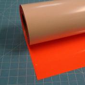 Siser Easyweed Fluorescent Orange 38cm x 1.5m Iron on Heat Transfer Vinyl Roll by Coaches World