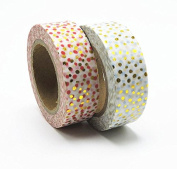 Lavenz Foil Washi Tape Office Adhesive Scrapbooking Tools For Photo Album Cute Decorative Christmas Craft Gift Paper Crafts