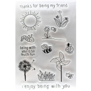 Scrapbooking DIY, SANNYSIS Alphabet Transparent Silicone Clear Rubber Stamp Sheet Cling