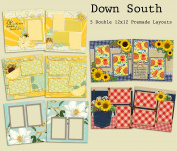 Down South Scrapbook Kit - 5 Double Page Layouts