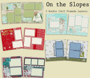 On the Slopes Scrapbook Kit - 5 Double Page Layouts
