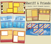 Sheriff & Friends Scrapbook Kit - 5 Double Page Layouts