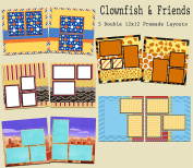 Clownfish & Friends Scrapbook Kit - 5 Double Page Layouts