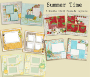 Summer Time Scrapbook Kit - 5 Double Page Layouts