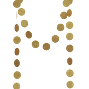Ling's moment 4 x Circle Dots Paper Garland, Circle Paper Garland for Wedding, Baby Shower, Festival Items & Party Decoration, (Gold Glitter, Pink, Hot Pink, Coral) 6.4cm Dots