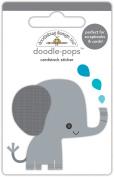 Doodlebug Designs Eddie Elephant Doodle-Pops Dimensional Stickers