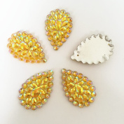 FunnyCraft 6Pcs Bling Ab Resin Teardrop Flatback Rhinestone Wedding Buttons 2 Hole U Pick 2 Scrapbooking Embellishments