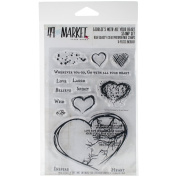49 & Market Clear Stamps 10cm x 15cm -With All Your Heart