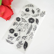 silicon clear Stamp Feather flowers butterfly Stamp DIY Scrapbooking/Card Making/ Decoration Supplies K0047