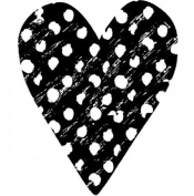 Polka Dot Heart Love Romance Stampington And Co Wooden Rubber Stamp