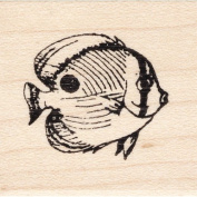 Butterfly Fish Rubber Stamp