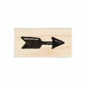 Arrow Rubber Stamp Wood Mount