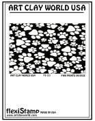 FlexiStamps Texture Sheet Pawprints Inverse Design - 1 pc.