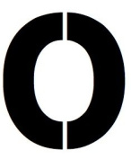 11x14 Large Letter Stencil from 4 Ply Mat Board -Letter O