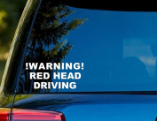 T1365 Warning - Red Head Driving Decal Sticker - 7.6cm x 13cm - Easy to Apply - Instructions Included - Premium 6+ Year Vinyl
