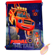 Blaze And The Monster Machines Pedal To The Metal! Drawstring School Sports Gym & Swimming Bag