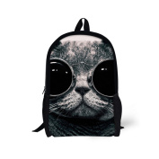 Injersdesigns Casual Backpacks School Bags for Teenagers Canvas Animals Backpack Cute Animals Bookbags for Girls Boys Women Men Travel Laptop Rucksack