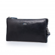 ZRO Men's Large Capacity Long Wallet Wrist Clutch Leather Business Handbags