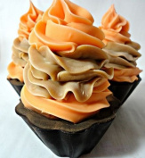Handmade luxury Orange and Chocolate Cup Cake Soaps - 100 % natural