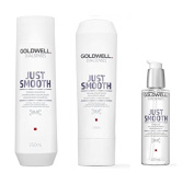 Goldwell Dualsenses Just Smooth Taming Shampoo 250ml, Conditoner 200ml and Oil 100ml