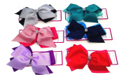 SHIMMERS - 6 Two Tone Large Ribbon Diamante Bow Alligator Hair Clip