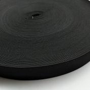 """Chenkou Craft Upick 10yards 1"""" (25mm) Black or White Braided Elastic Ribbon Elastics Bands"""