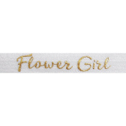 5 Yards of Gold Flower Girl Elastic - 1.6cm Metallic Foil FOE - Headbands Hair Ties Favours - Fashion Elastic